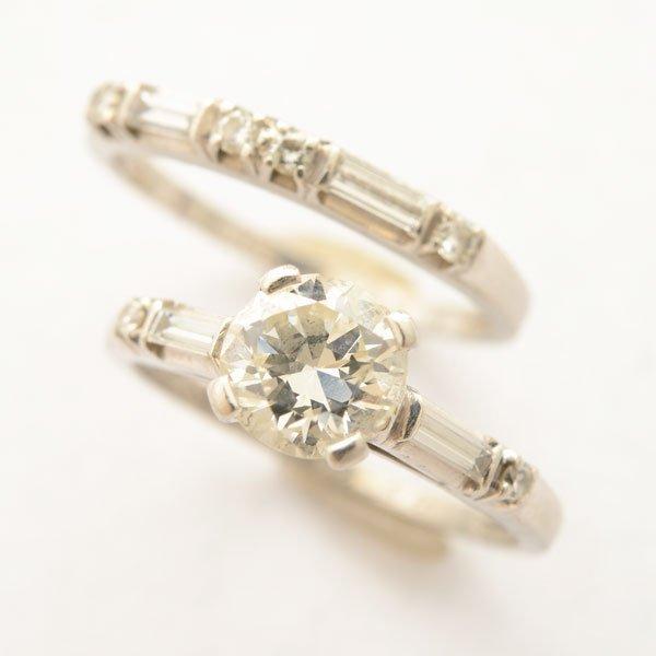 Jabel Diamond, Platinum Wedding Ring Set.