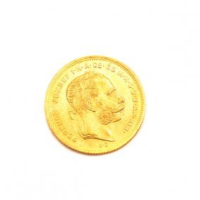 Hungary 1875 8 Forint 20 Franks Gold Coin