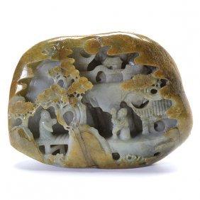 A Carved Jadeite Boulder