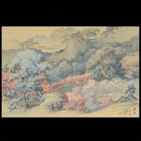 Yuetin Mui (20th Century): Garden Landscape