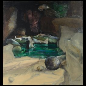 "Alexander Nepote ""green Pool Near The Abyss"" Oil."
