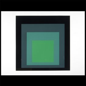 """Josef Albers """"i-s J Homage To Square"""" Lithograph."""