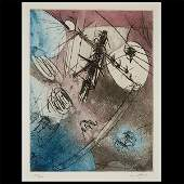 ROBERTO MATTA Color Etching of Abstract Composition
