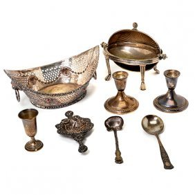 Victorian Silver Plated Basket And Chafing Dish With A