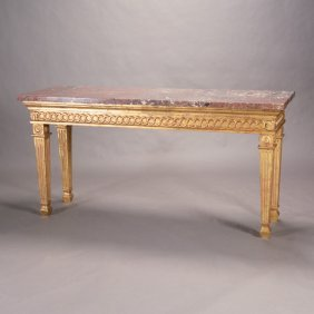 Italian Neoclassical Style Giltwood Console Table