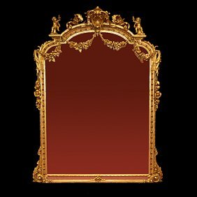 French Louis Xvi Style Giltwood Mirror