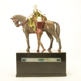 After Otto Poertzel, Romeo And Juliet Art Deco Bronze