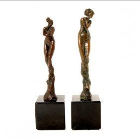 Thomas Corbin, Two Nude Bronze Figures