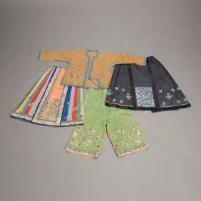 Assortment Of Four Chinese Garments
