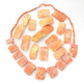 Collection Of Pre-colombian Spondylous Shell Jewelry.