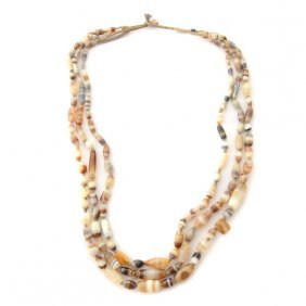 Central Asian Agate Bead Necklace.