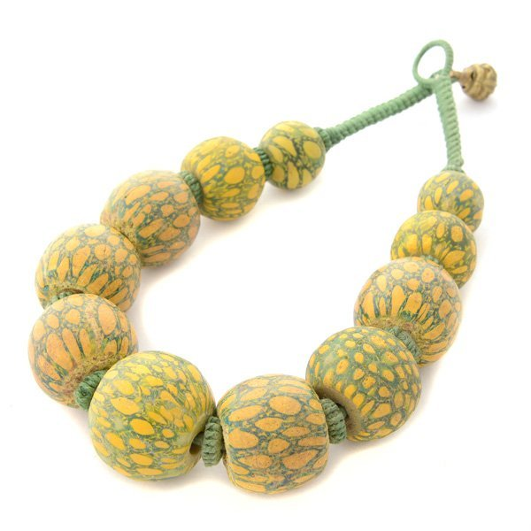 Ancient Java Glass Bead Necklace.