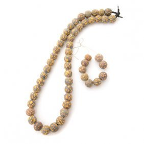 Collection Of Java Glass Millefiore Beads.
