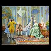 """RUDOLPH JELINEK """"Mozart"""" Oil on Canvas."""