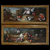CONTINENTAL SCHOOL 19th C. Two Floral Still Life