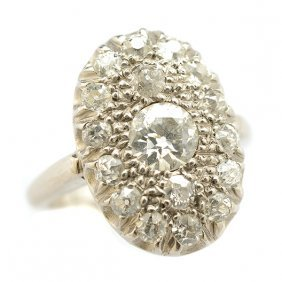 Diamond, Palladium Cluster Ring.