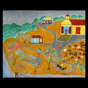Haitian Paintings, By Stephane, Martinez And Delille