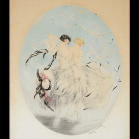 "Louis Icart ""seagulls"" Etching And Aquatint."