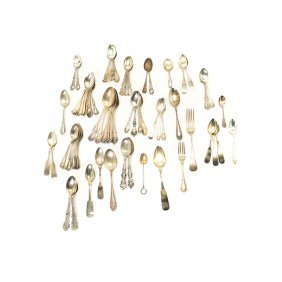 Large Collection Of Sterling And Coin Silver Spoons