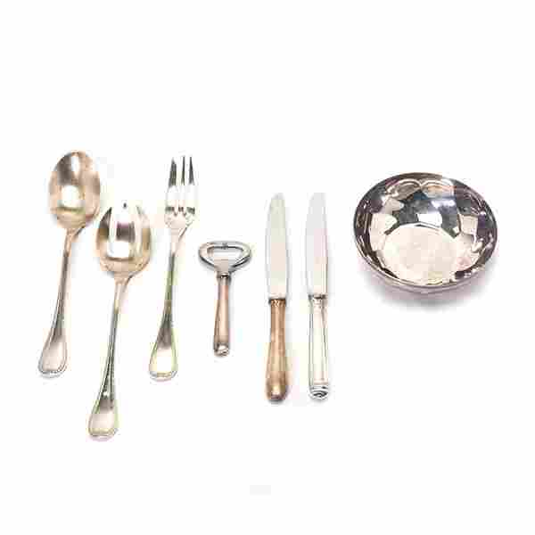 Collection of Christofle Silver Plated Flatware and