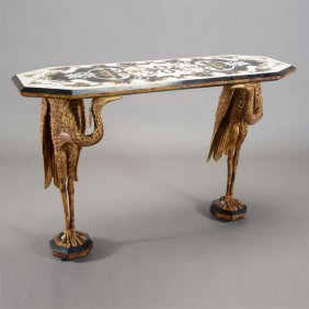 Neoclassical Style Pietra Dura Console Table