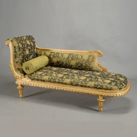 Italian Gilt Painted Chaise Lounge