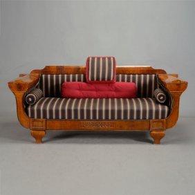 American Empire Revival Upholstered Sofa