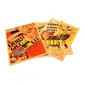 Three 1930's Rko Radio Pictures Movie Lobby Cards