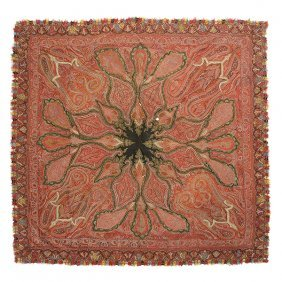 Victorian Kashmir Paisley Shawl