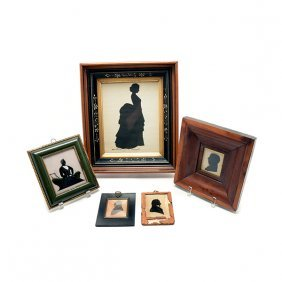 Collection Of Five Framed Silhouettes