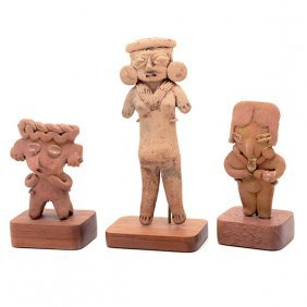 Three Pre-columbian Pottery Figures