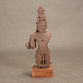 An Indian Red Sandstone Vishnu, 12th Century