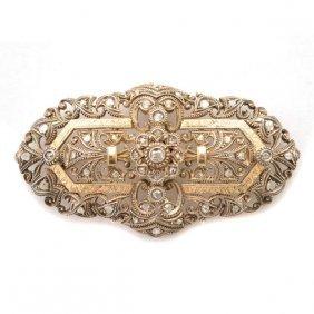 Edwardian Diamond, Silver-topped, 14k Yellow Gold