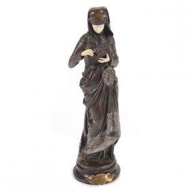 Gilt And Patinated Bronze Figure, After Albert-ernest