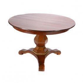 Louis Philippe Walnut And Mahogany Table De Milieu