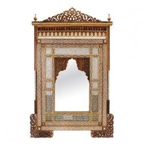 Levantine Shell And Bone Parquetry Hardwood Mirror