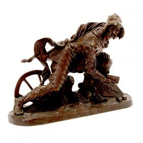 Russian Bronze Figure Of A Soldier
