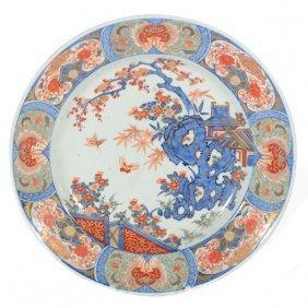 Large Japanese Imari Porcelain Charger, 19th Century
