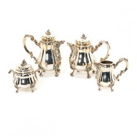 Buccellati Sterling Four Piece Tea And Coffee Service
