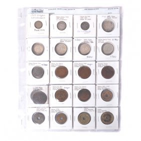 Collection Of Chinese Coins 19-20th Century, Including