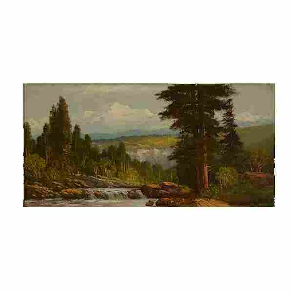 "JOSEPH ENGLEHART ""Landscape"" Oil Painting."