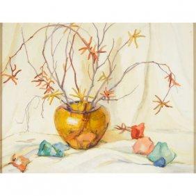"""Rowena Abdy """"still Life"""" Watercolor."""