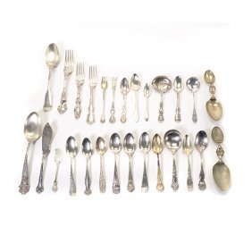 Large Collection Of American Sterling Flatware