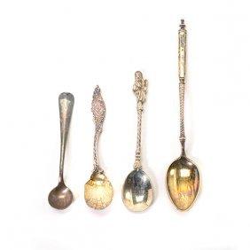 Twelve Silver Apostle Spoons And Twelve Turned