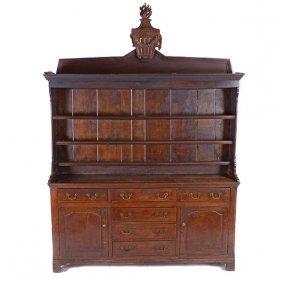 Welsh Dresser With Plate Rack Shelf