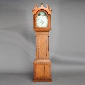 Late Georgian Inlaid Mahogany Tall Case Clock, John