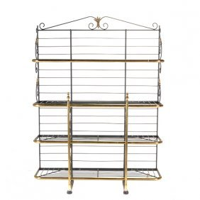 Perfit Fils Paris Gilt Brass And Wrought Iron Four