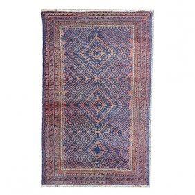 Afghan Bokhara Rug: 4 Feet X 6 Feet 5 Inches