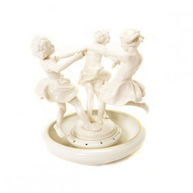 "Hutschenreuther Porcelain Figural Group ""may Dance"""