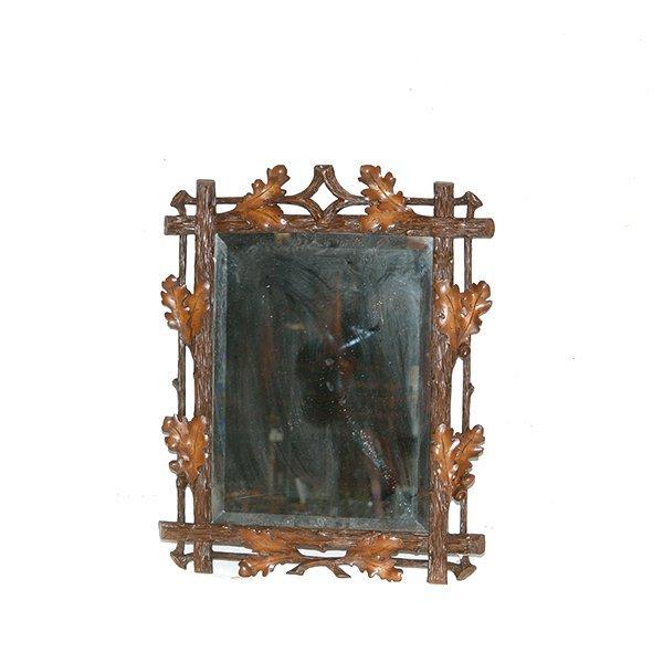 "Oak Leaf Beveled Mirror H 30"" x W 21"""